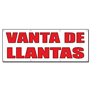 Amazon.com : Venta De Llantas Tire Sale Auto Body Shop 3 Ft X 6 Ft /W