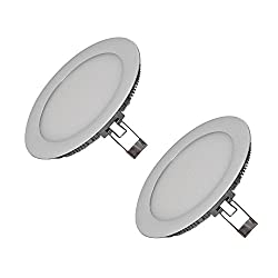 Mazda LED Panel 15W Ceiling Light (Pack of 2, White, Round)