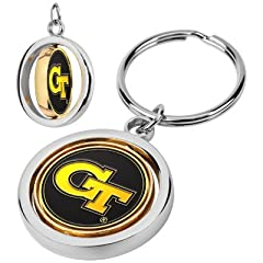 Buy Georgia Tech Yellow Jackets Spinner Keychain by LinksWalker