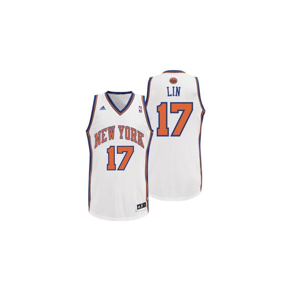 f81d20280da6f NBA adidas Jeremy Lin New York Knicks Revolution 30 Performance Jersey White  (X Large)