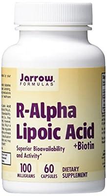 Jarrow R-Alpha Lipoic Acid with Biotin (100mg, 60 Capsules)
