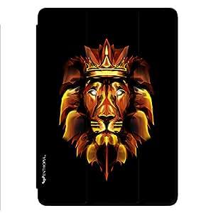 Enthopia Designer Front Smart Cover 3D Fire Lion Back Cover for Ipad Mini 4 with Transparent Back Case