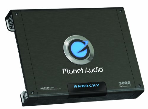 Planet Audio Ac3000.1D Anarchy 3000-Watts Monoblock Class D 1 Channel 1 Ohm Stable Amplifier