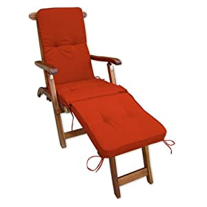 coussin pour transat chaise longue de jardin orange 3 segments jardin. Black Bedroom Furniture Sets. Home Design Ideas