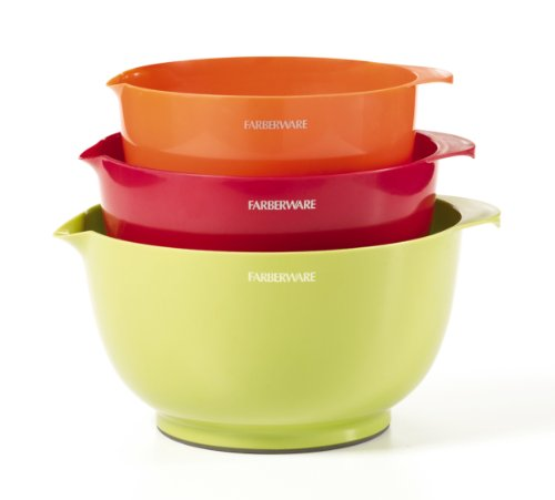 Farberware Classic Plastic Mixing Bowls, Mixed Colors, Set Of 3 front-130338