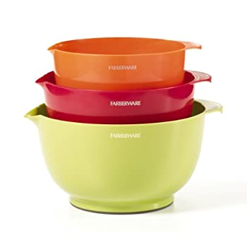 Farberware Classic Plastic Mixing Bowls, Assorted, Set of 3