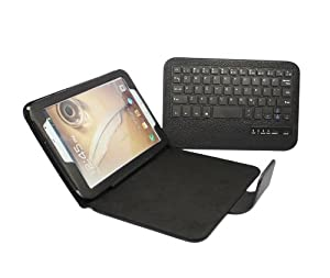 FOME® Detachable Bluetooth Keyboard PU Leather Protective Case Tablet with Stand for Samsung Galaxy Note8.0 N5100 N5110 (Black)