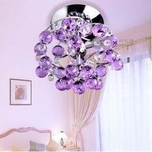 Loco lampadario con struttura a forma di fiore con sfere in cristallo k9 ideale per - Amazon lampadario camera da letto ...