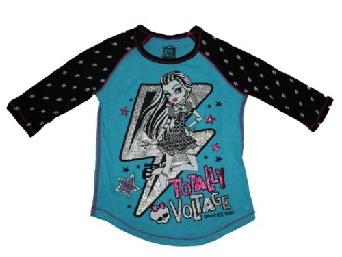 Monster High Totally Voltage Girls 3/4 Length Sleeve Shirt