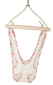 Altalena amaca con elastico per bambini colore bianco con bordatura