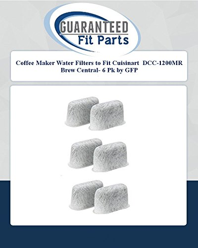Coffee Maker Water Filters To Fit Cuisinart Dcc-1200Mr Brew Central- 6 Pk By Gfp
