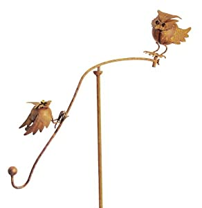 Red Carpet Studios Balancing Buddies Yard Art, 42-Inch Tall, Perched Owls