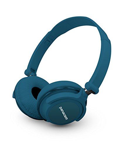 Deep Blue Super Clear Stereo Sound Headphones With Foldable And Rotatable Ear Cups And In-Line Volume Control