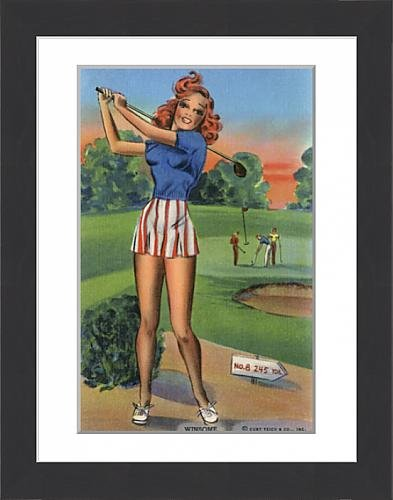 framed-print-of-a-ginger-haired-young-lady-golfer-completing-her-swing