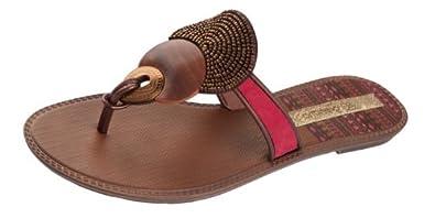 Grendha Kira femmes Flip Flops / Sandals - rouge - SIZE EU 38