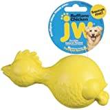JW Pet Company Ruffians Chicken Dog Toy, Medium, Colors Vary