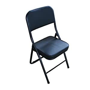 Amazon Com New Faux Leather Thick Padded Folding Chair W