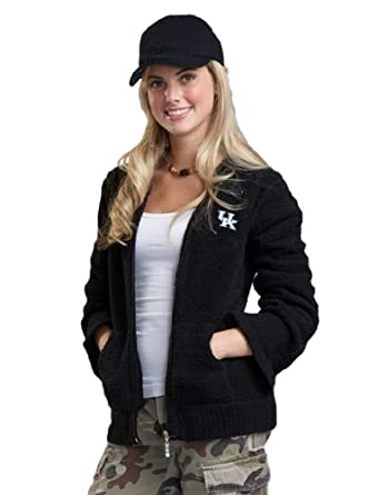 NCAA University of Kentucky Kashwere U Full-Zip Hoodie (Black, Medium 4-6) by Kashwere U