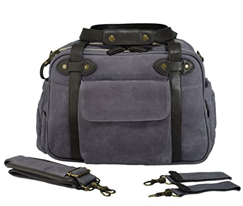 SoYoung Charlie Diaper Bag, Waxed Charcoal - 1