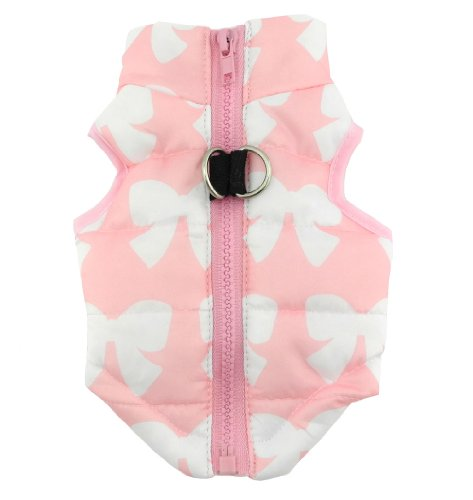 New Various Pet Cat Dog Soft Padded Vest Harness Small dog clothes Pink Bow XS (Teacup Clothes compare prices)