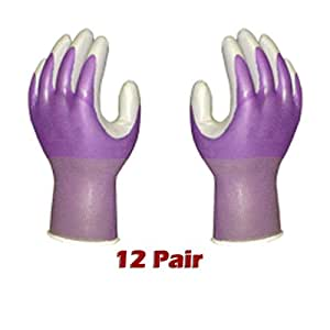 ATLAS Fit 370 Purple Thin Nitrile Gloves X-Small XS *12-Pack*
