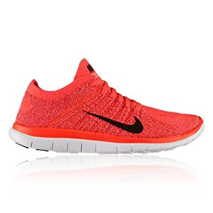 Nike Free Flyknit 4.0 Ladies Womens Running Shoes, Hyper Punch, US 8.5