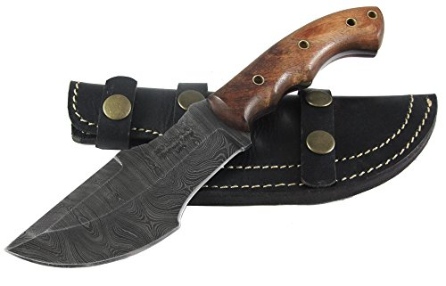 Cheapest Prices! Moorhaus Handmade Custom Firestorm Damascus Rose Wood TRACKER knife