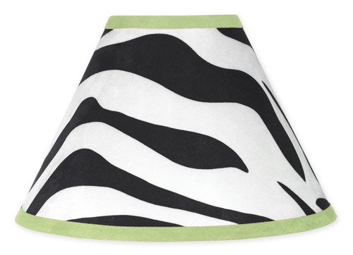 Lime Funky Zebra Lamp Shade By Sweet Jojo Designs front-222268