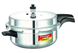 Prestige Deluxe Plus Induction Base Senior Pan Aluminium Pressure Cooker, 6 Litres