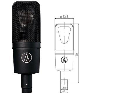 audio-technica サイドアドレスマイクロフォン AT4040