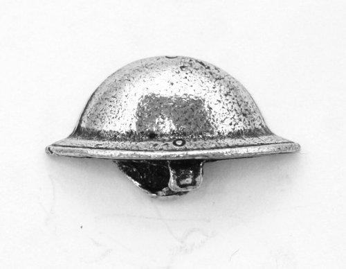 Grande Guerra Britannico Casco Di Tommy Spilla Badge in Peltro Inglese, Handmade, PRIMA GUERRA MONDIALE (wa)