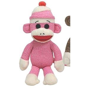 Ty Beanie Buddies Socks The Monkey (Pink)