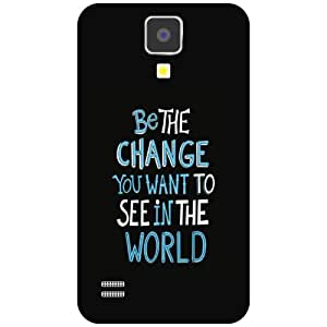 Samsung I9500 Galaxy S4 Back cover - Be The Change Designer cases