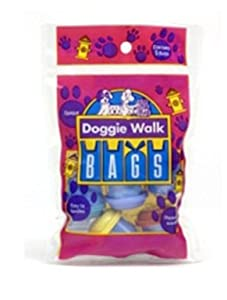 Doggie Walk Bags Classic Baby Powder Bag, Blue, 5-Capsules