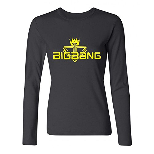 JuDian Big Bang VIP Logo Long Sleeve T Shirt For Women (Big Bang Kpop Shirt compare prices)