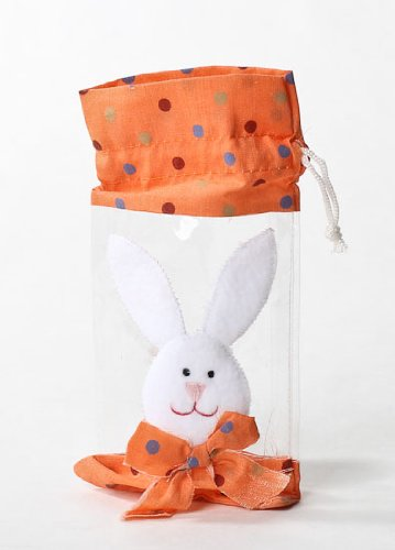 Adorable Clear Vinyl Appliqued Bunny Bags for