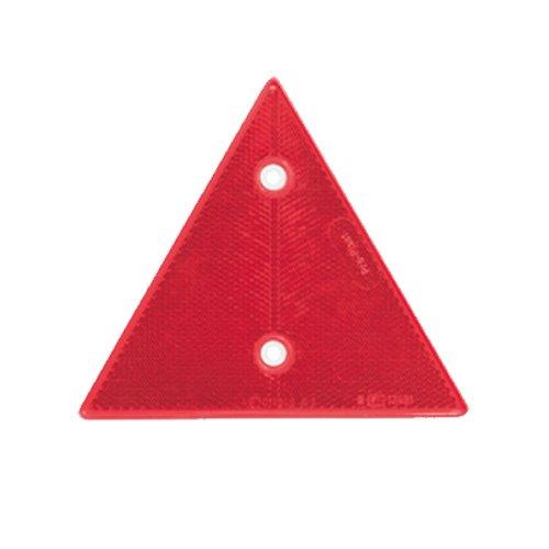 Reflektor / Katzenauge / Rückstrahler rot 160x160x160 mm, weisse Rückplatte