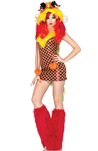 Fancy Leg Avenue Imperial Dragon Furry Monster Adult Costume (Imperial Gunner Helmet compare prices)
