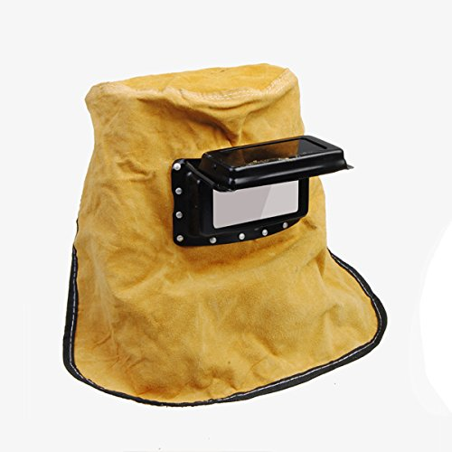 Cowhide Leather Inner Filter Outter Glasses Welding Helmet front-544604