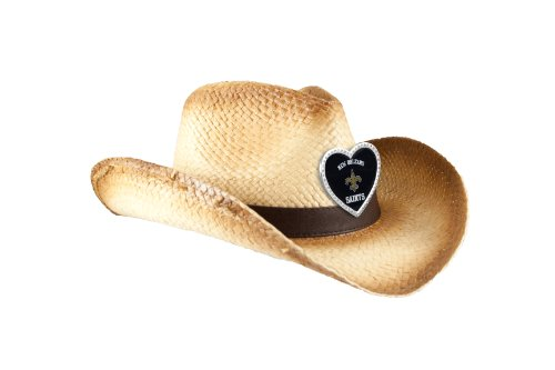 NFL New Orleans Saints Women's Crystal Cowgirl Hat, Ombre
