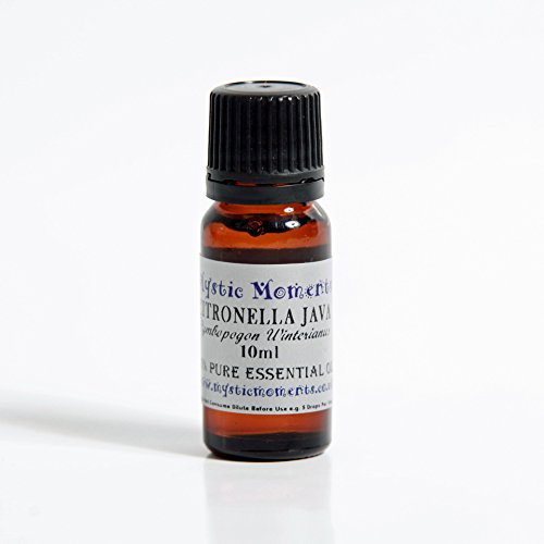 Citronella Essential Oil 10ml - 1/3 oz - Cymbopogon winterianus - 100% Pure and Natural for Aromatherapy Use - Free Shipping