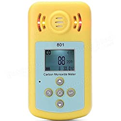 PhilMat KLX-801 LCD CO Gas Carbon Monoxide Measurement Alarm Detector Analyzer Sound Light Alarm for Home Security Safety by Phil Mat BG