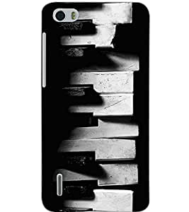 HUAWEI HONOR 6 OLD PIANO Back Cover by PRINTSWAG