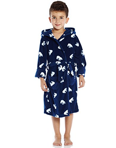 Leveret Boys Printed Fleece Sleep Robe (Size 2-14) Variety of Styles