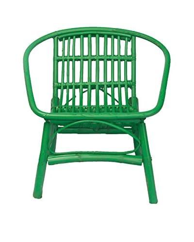 Mili Designs Indoor/Outdoor Rattan Chairs, Green