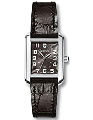 Swiss Army 241168 Vivante Rectangle Black Dial Black Leather Strap