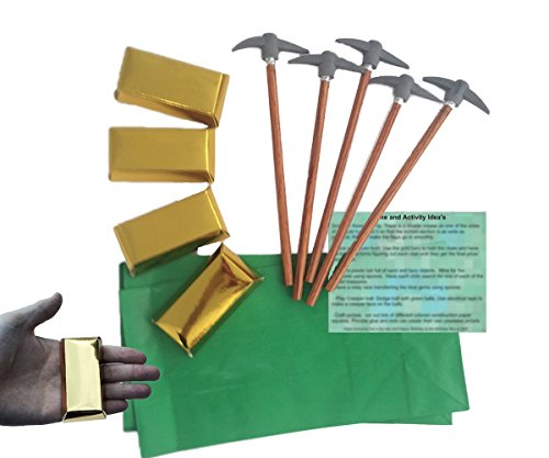Find Discount Mining Party Favors for 12: Pickaxe Pencils (12), MINI Gold Bar Boxes - 3 Inch (12), G...