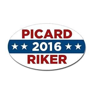 Amazon.com - CafePress Star Trek Picard Riker 2016 Sticker Sticker