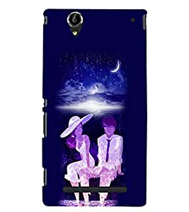 PrintVisa Romantic Love Romantic Couple 3D Hard Polycarbonate Designer Back Case Cover for Sony Xperia T2 Ultra