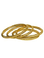 Joyas Golden Bangle Set For Women_12918_2.6